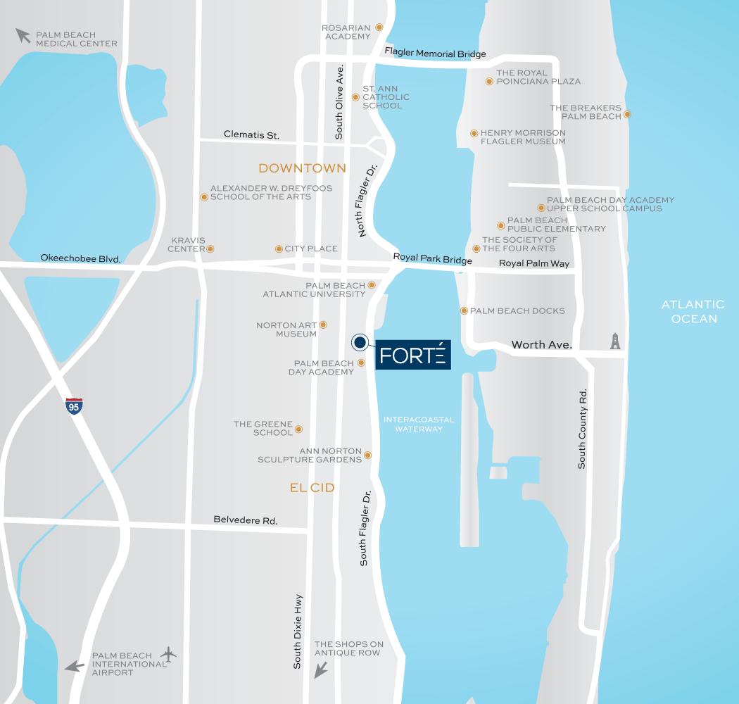 Map - Forte on Flagler