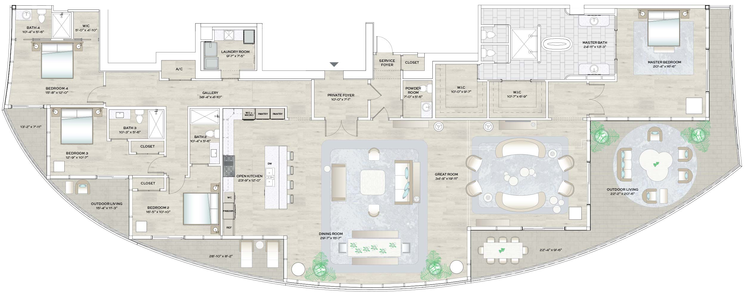 Floorplans - Forte on Flagler